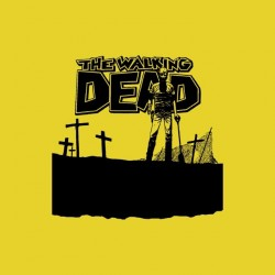Tee shirt The Walking Dead comics cimetiere  sublimation