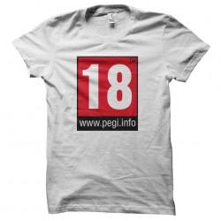 pegi 18 tshirt sublimation