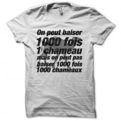 Tee shirt La cité de la peur parodie baiser chameau 1000 fois  sublimation