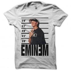 Eminem police face shirt fan art white sublimation