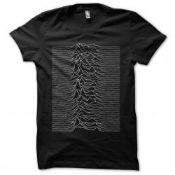 Joy Division Unknown Pleasures t-shirt black sublimation