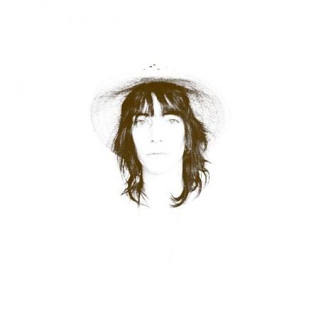 Patti Smith halftone artwork white sublimation t-shirt