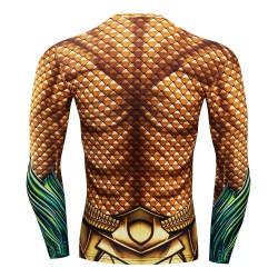 acquaman fitness shirt gym compression