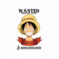 Wanted tee shirt luffy One...