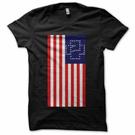 T-shirt rammstein american flag artwork black sublimation