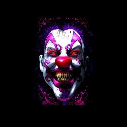 psychopat clown tshirt sublimation