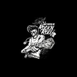 rock'n roll skull tshirt sublimation