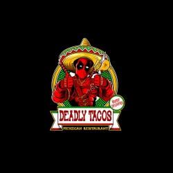 tee shirt deadpool deadly tacos sublimation