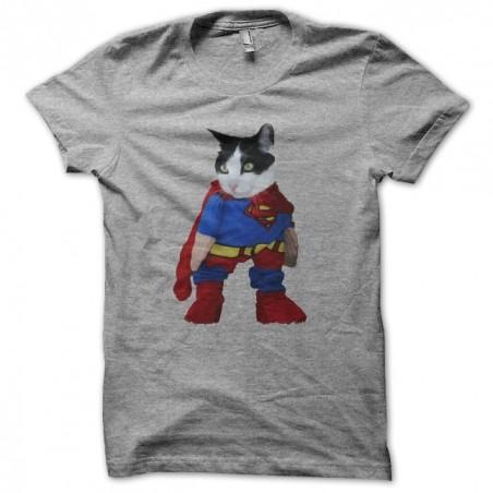 Supercat parody Superman gray sublimation t-shirt