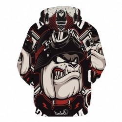 bulldog riders jacket hoodie