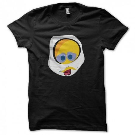 T-shirt Calimero parody Egg black sublimation