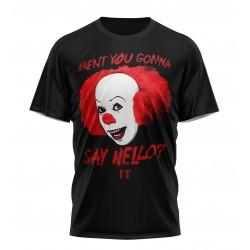it say hello tshirt...