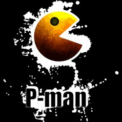 Tee shirt Pac man art work...