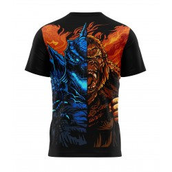 king kong vs godzilla tshirt sublimation