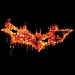 Bat man logo t-shirt in...