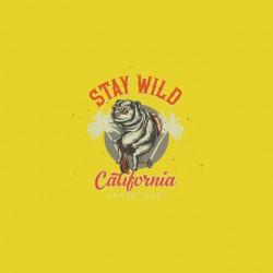 stay wild california tshirt sublimation