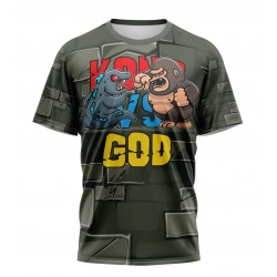 kong vs god tshirt sublimation