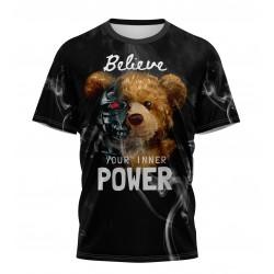 teddy bear power tshirt...