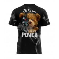 teddy bear power tshirt sublimation