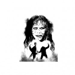 exorciste portrait tshirt sublimation