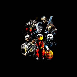 tee shirt haloween serial killer sublimation