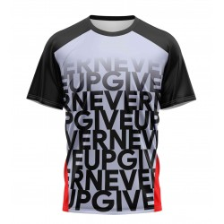 gym never give up tshirt...