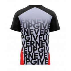 gym never give up tshirt sublimation