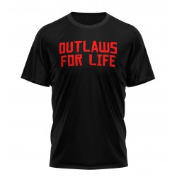 tee shirt red dead outlaws...