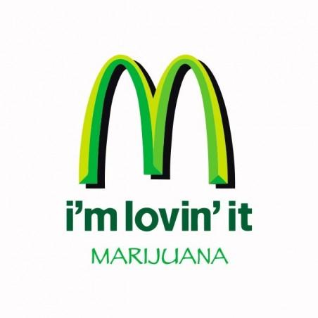 Tee shirt Mac Donald parodie Marijuana  sublimation