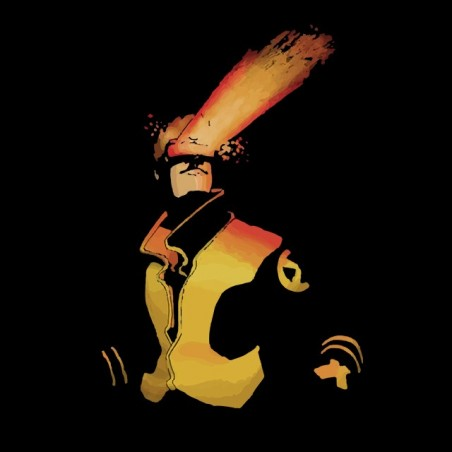 T-shirt design graphic of cyclops black sublimation