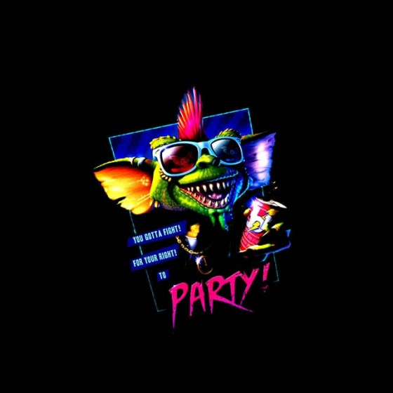 gremlins party shirt sublimation