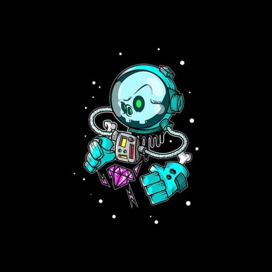 space cartoon gems shirt sublimation