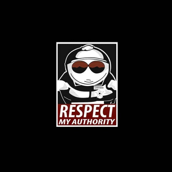 respect my authority south park shirt sublimation