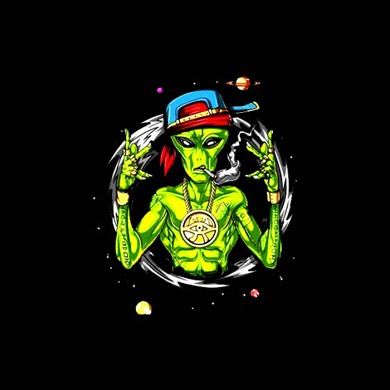 alien destroy cool party shirt sublimation
