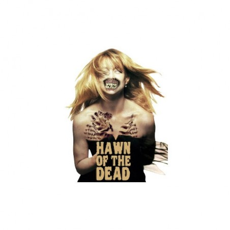 Goldie Hawn parody t-shirt Dawn of the dead white sublimation