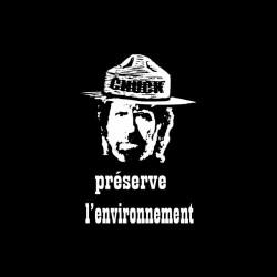 Chuck Norris Tee Shirt Preserves Black Sublimation Environment