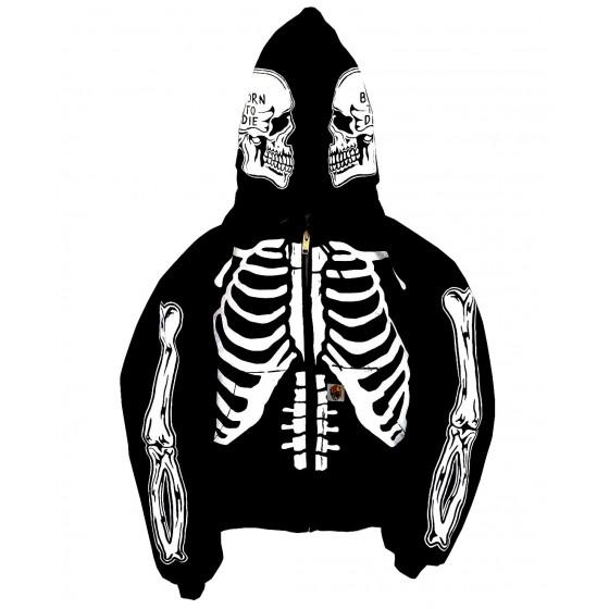 skull jacket hoodie karate kid