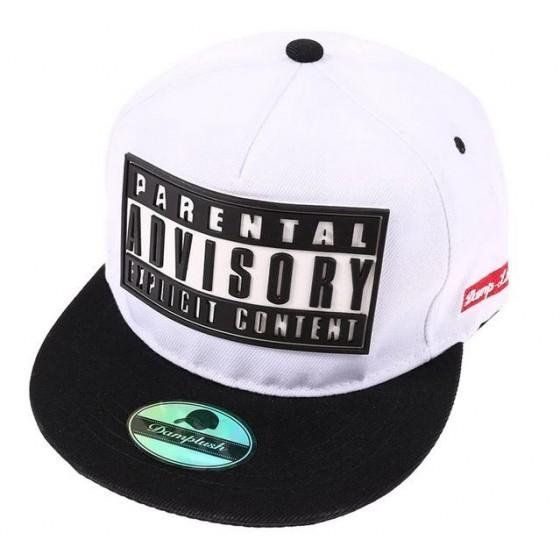 parental advisory snapback hat