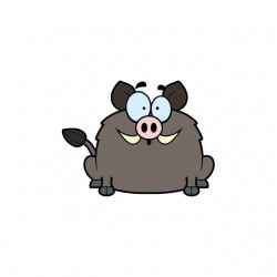 Surprised wild boar cartoon...