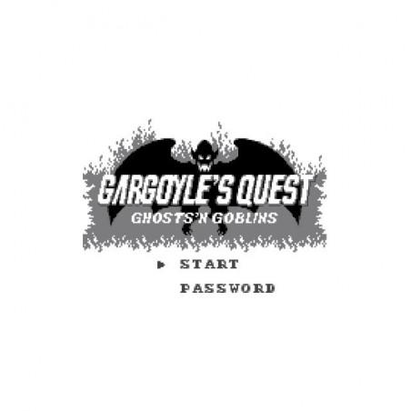 Gargoyle's Quest T-Shirt start screen white sublimation