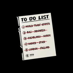 To Do List Terrorist black...