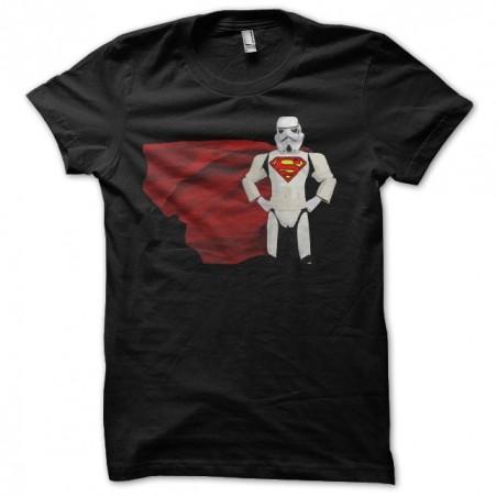 Starwars Super Man Super Trooper Parody T-Shirt Black Sublimation