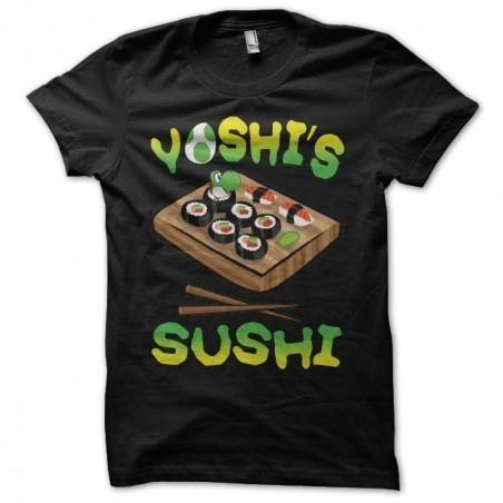 Yoshi's Sushi black sublimation t-shirt