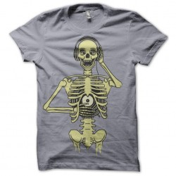 Tee Shirt Skeletal DJ...