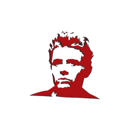 James Dean stencil fan art white sublimation t-shirt