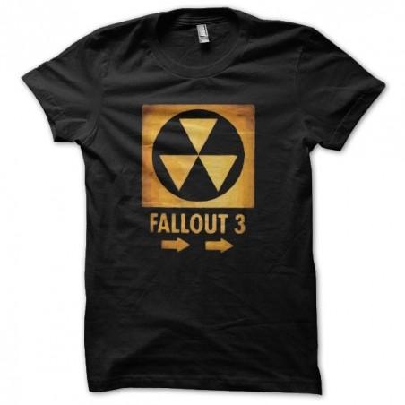 Fallout 3 nuclear artwork black sublimation t-shirt