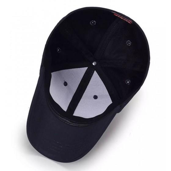 casquette viking enclume broderie de couleur noire
