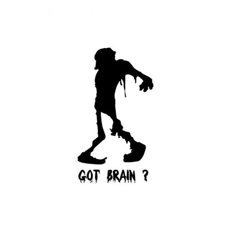 Zombie Got Brain t-shirt? white sublimation