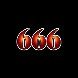 Tee shirt 666 the devil...