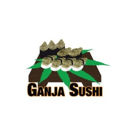 Ganja Sushi white sublimation t-shirt